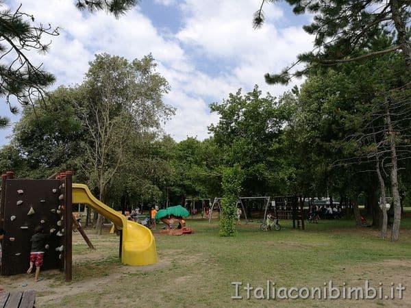parco giochi del Camping Tridente