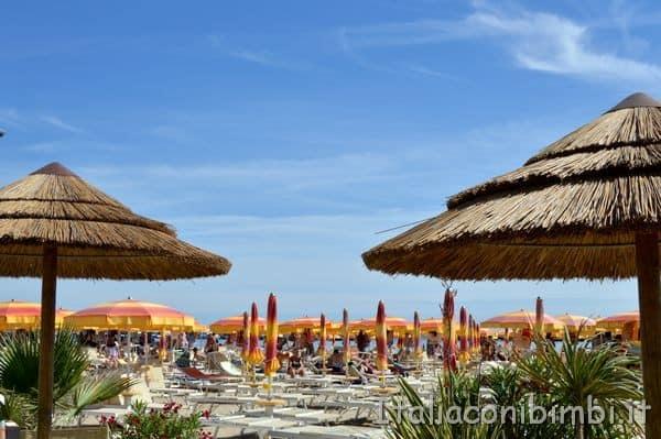 vista della spiaggia a Bellaria Igea Marina