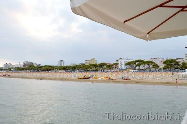 vista mare dal ristorante Terrazza a Mare di Lignano