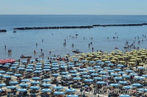 vista mare dall'hotel Teti di Bellaria Igea Marina