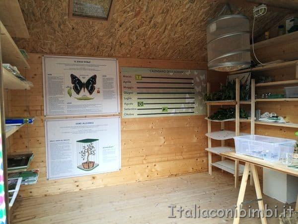 Giardino delle farfalle di Cessapalombo casetta pupi