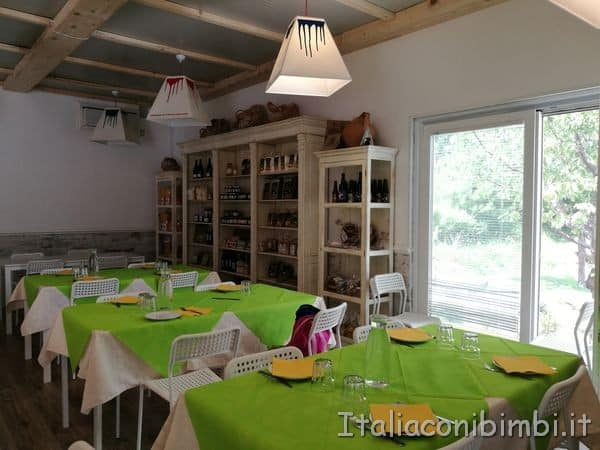 Giardino delle farfalle di Cessapalombo interno ristorante