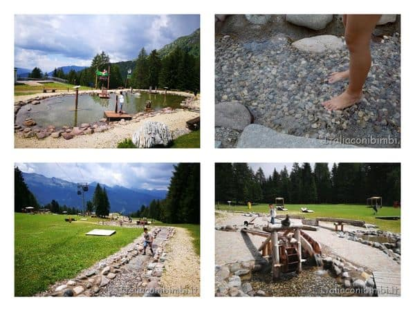 a piedi nudi nei laghetti di Giro D'Ali
