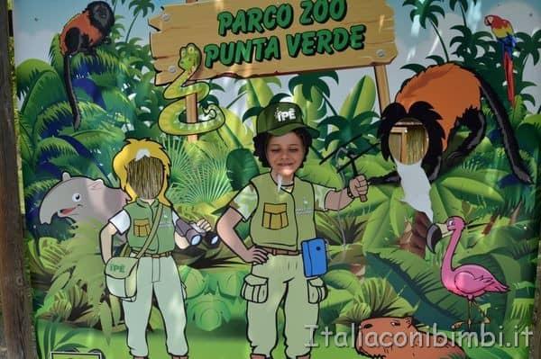 cartellone al parco zoo Punta Verde di Lignano