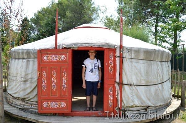 lo yurta allo zoo di Lignano Sabbiadoro