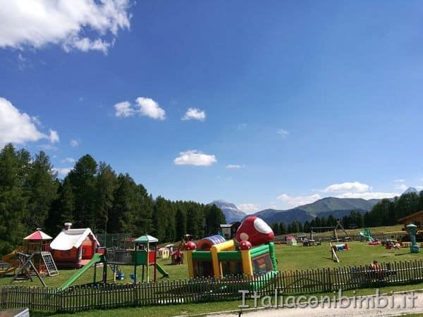 parco giochi del Ciampedie in Val di Fassa