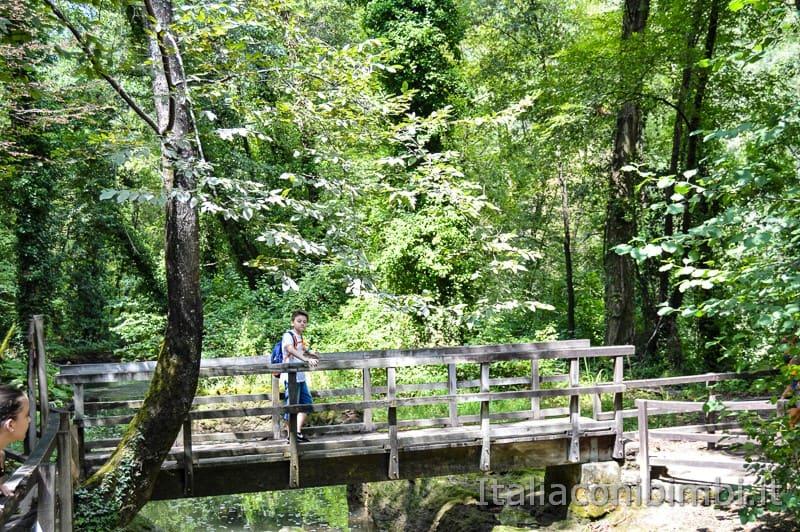 Cascata delle Marmore - bambino sul ponte.