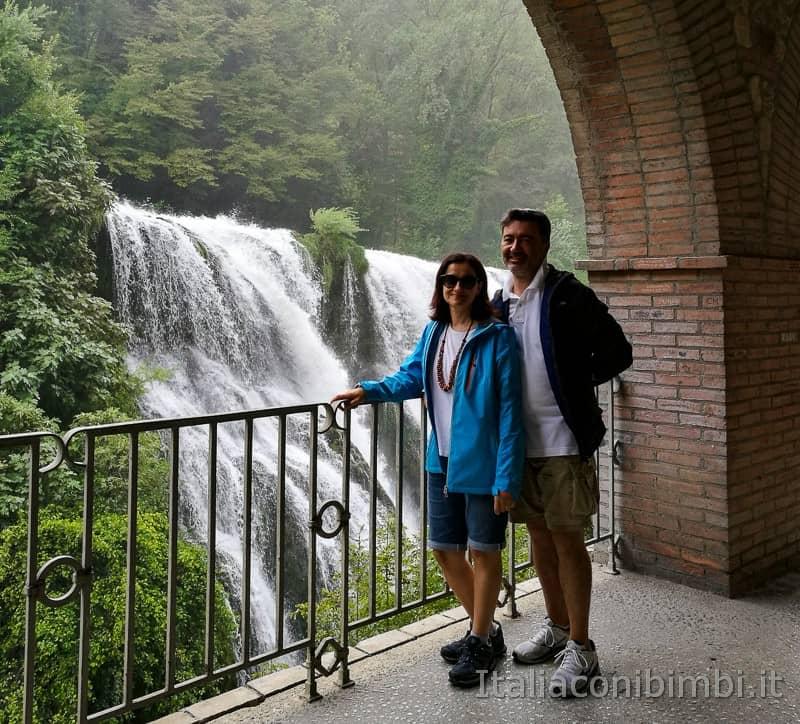 Cascata delle Marmore - noi al belvedere inferiore