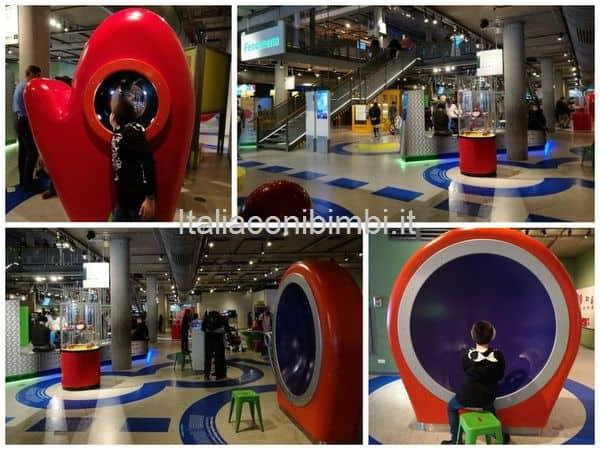 Fenomena al primo piano del Nemo museo della scienza Amsterdam