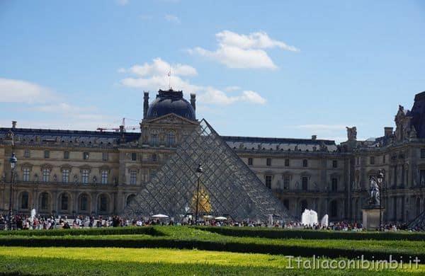 Louvre con la piramide