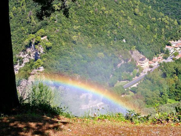 arcobaleno dal belvedere superiore della Cascata delle Marmore