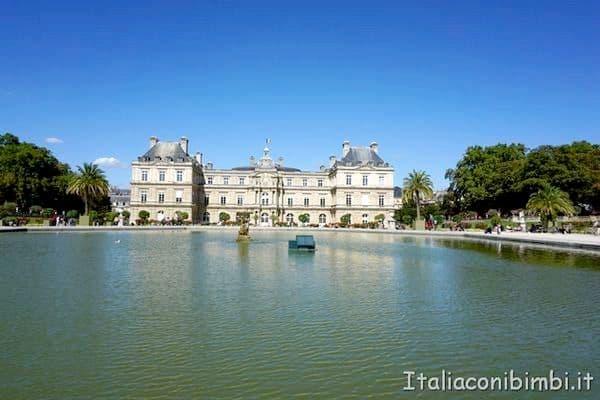 laghetto ottagonale dei Jardin de Luxembourg