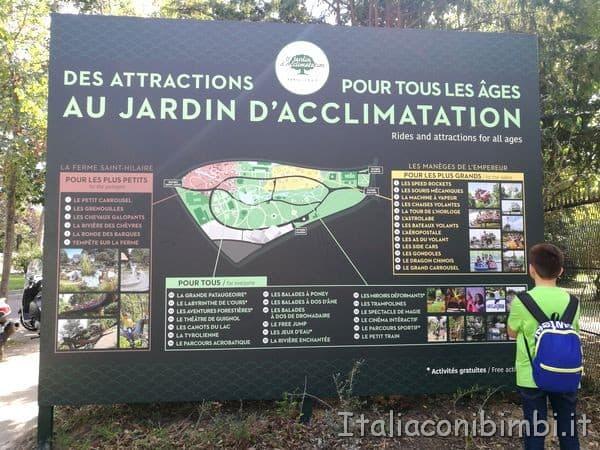 Jardin d'Acclimatation mappa