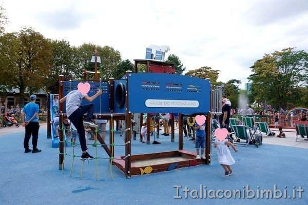 area giochi liberi Jardin d'Acclimatation Parigi