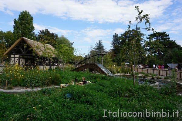 le barchette sul fiume Jardin d'Acclimatation Parigi