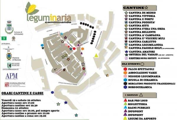 mappa delle cantine di Leguminaria