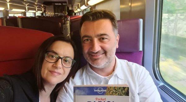 noi sul treno TGV per Parigi
