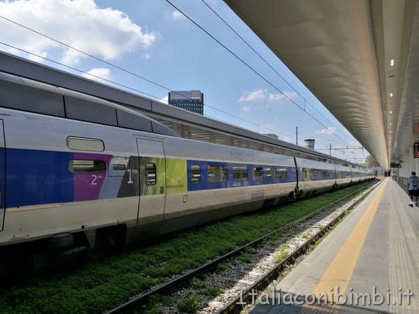 vagoni treno TGV da Milano