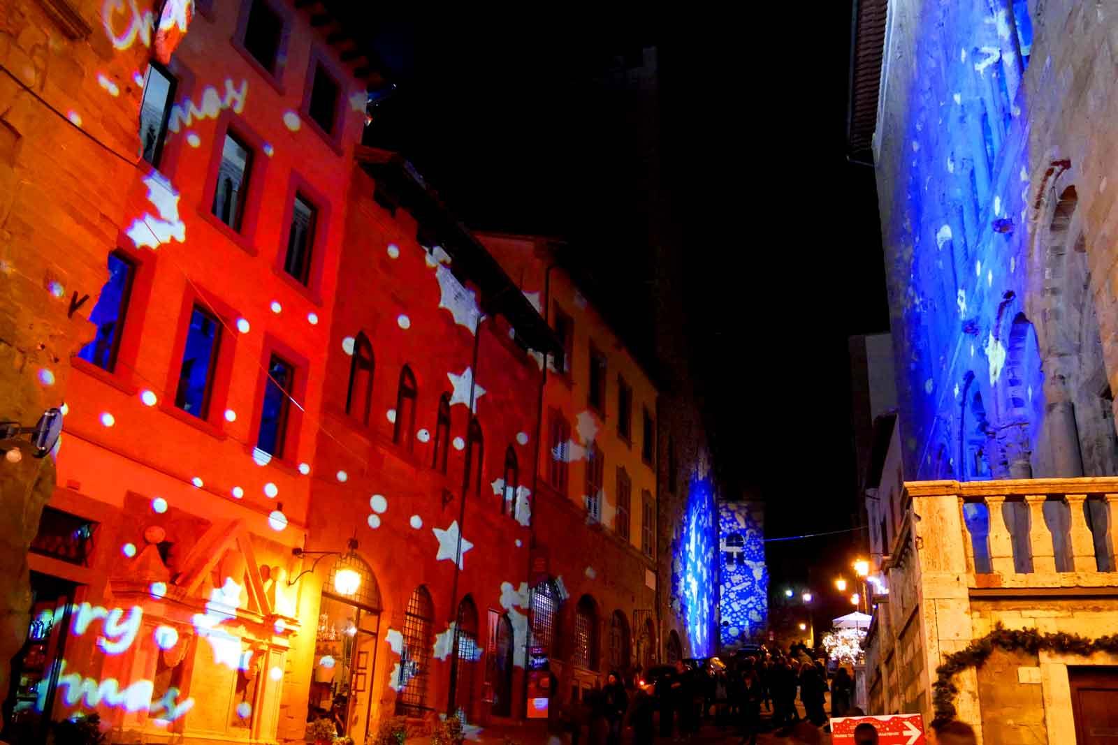 Arezzo proiezioni di Natale
