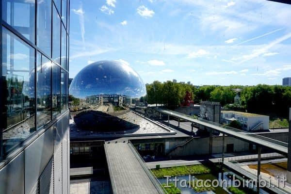 La Geode della Città delle Scienza di Parigi