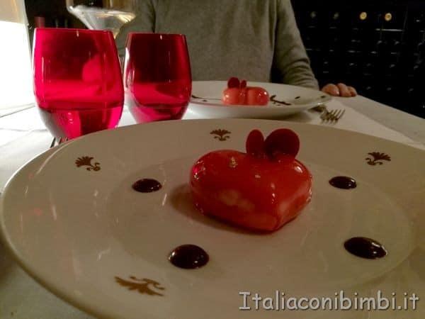 dessert a forma di cuore a Verona