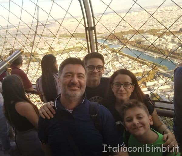 noi sulla Torre Eiffel