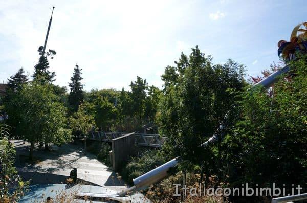 scivolo gigante nel Parc de la Villette di Parigi