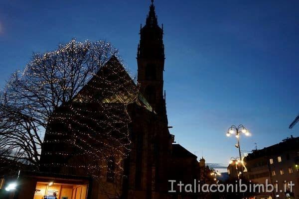 Piazza Walther durante il mercatino Natale di Bolzano