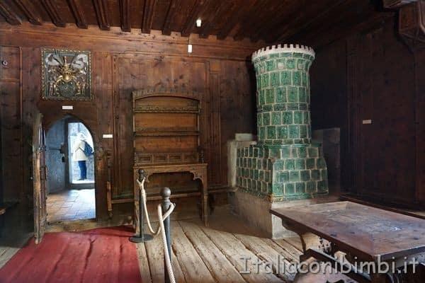 Stube del Castello di Burg a Merano