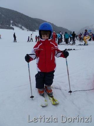 bimbo sugli sci