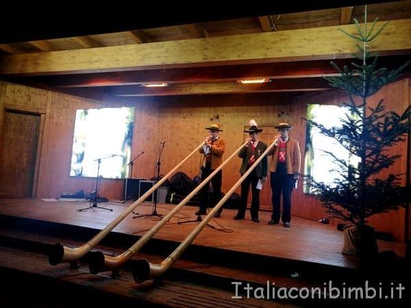 concerto fiati mercatino Natale di Bolzano