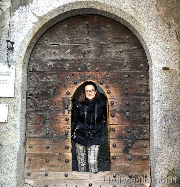 la porta del Castello di Burg di Merano.