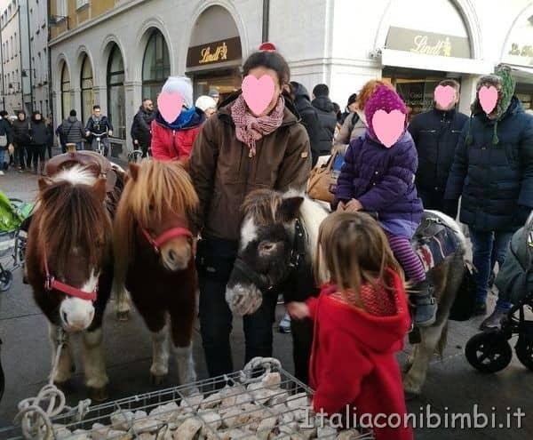 pony al mercatino Natale di Bolzano.