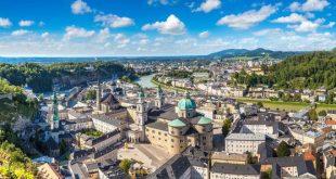 Vista panoramica di Salisburgo