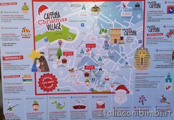 mappa del Villaggio di Babbo Natale di Viterbo