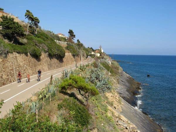 panorama pista ciclabile Ponente Ligure