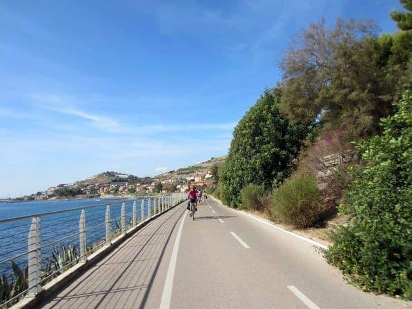 pista ciclabile della Liguri