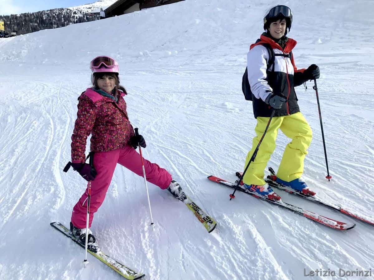 sciare con i bambini