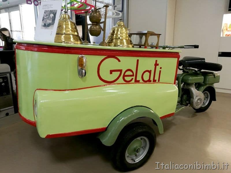carretto gelato antico al museo Carpigiani