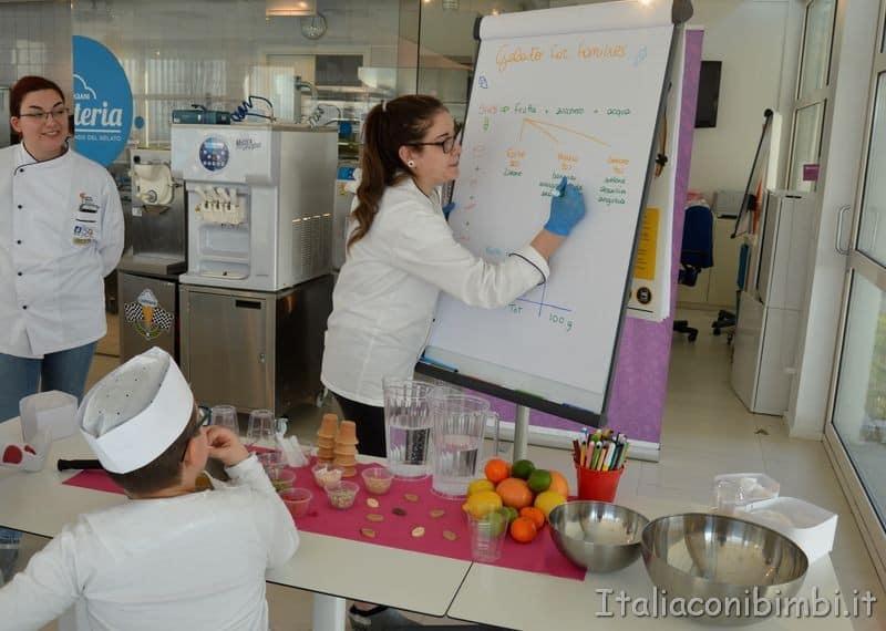laboratorio per bambini al museo del gelato