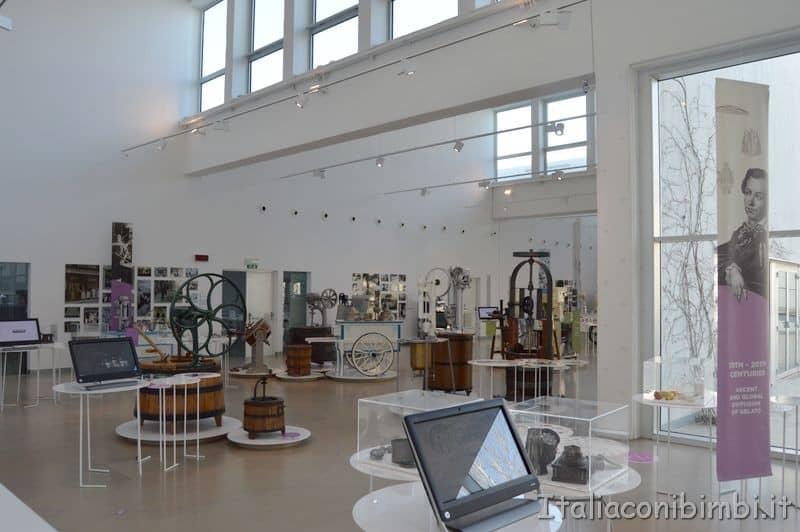 sala esposizione del museo del gelato