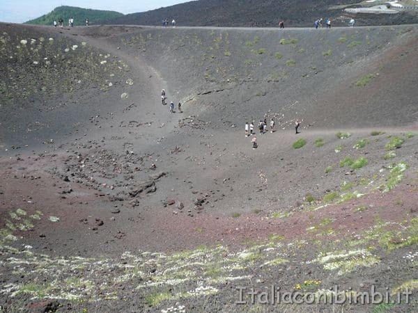 turisti sull'Etna