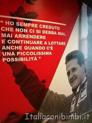 Michael Schumacher - museo Ferrari Maranello