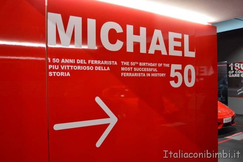 area Michael Schumacher museo Ferrari Maranello