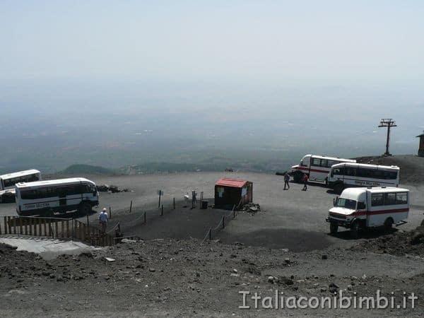 piazzale partenza pulmini Etna