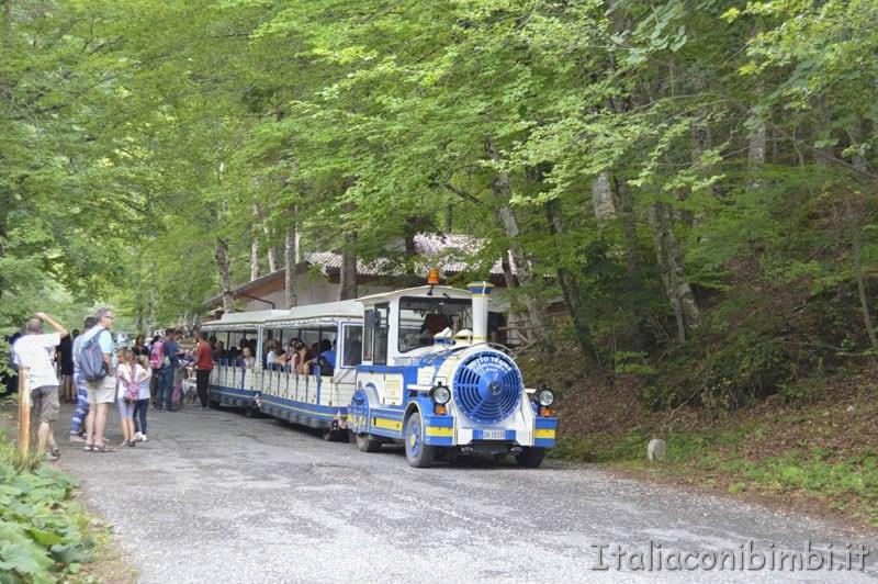 Camosciara - turisti sul trenino