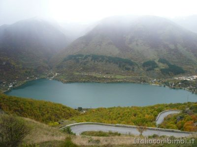 Lago di Scanno visto dall'alto