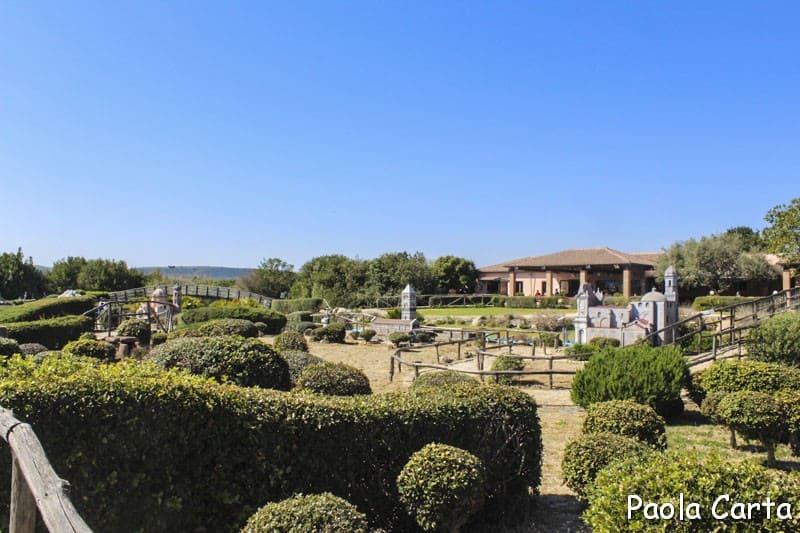 Sardegna in miniatura - area dedicata alla Sardegna