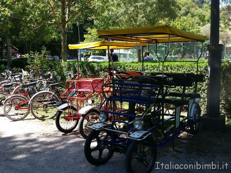 noleggio bici al lago di Scanno