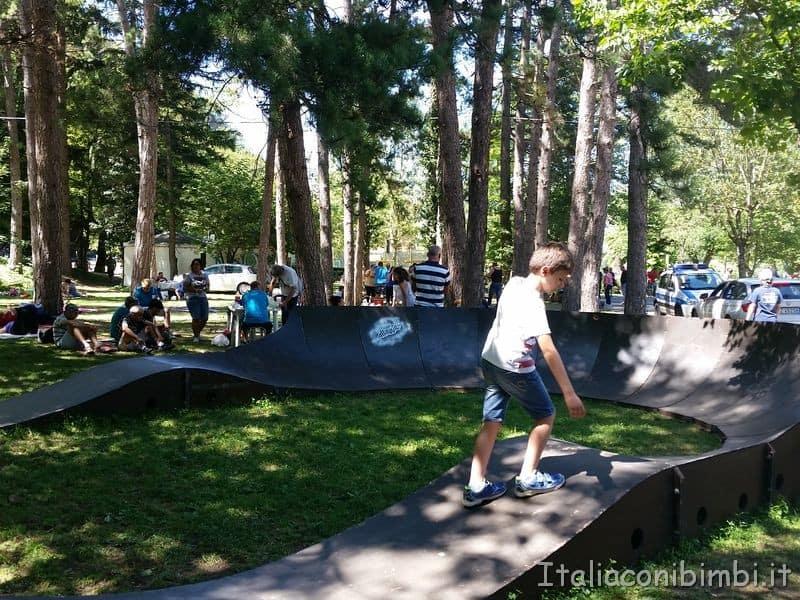 pista skateboard del lago di Scanno